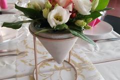 Table de mariage fleurs