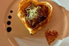 Feuilleté saint-valentin au foie gras